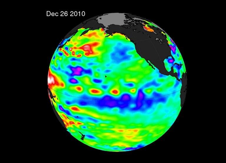 NASA SATELLITES CAPTCapture satelite de la NASA revélant un puissant phénomène de la Nina